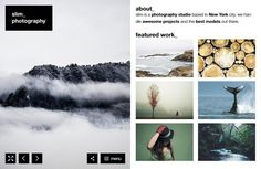 Slim – A Fresh Photography WordPress Theme