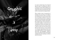 Popular Lies About Graphic Design on Behance #design #graphic #black #poster #crumpled #paper