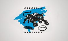 Matt Stevens: Carolina Panthers / on Design Work Life #rebrand #illustration #logo #football #panthers
