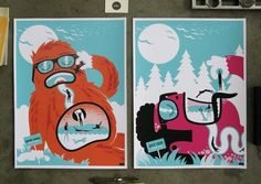 Shaun Lind is Creative #monsters #posters #summer
