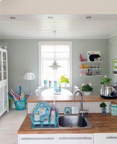 Plum Pretty Sugar #blue #kitchen #indoors