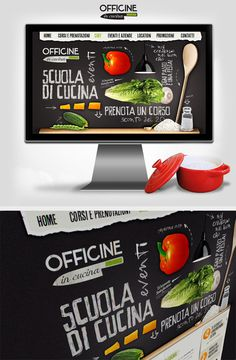 Officine in Cucina Web interface Design on the Behance Network #design #graphic #interface #food #ui #layout #web