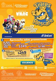 Tigres al Rescate 2011 on Behance #2011 #branding #refresh #illustrator #design #uanl #program #tigres #illustration #brand #rescate #donation #monterrey #logo #character