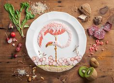 Food Art by AKJ | iGNANT.de #plate #flamingo #food