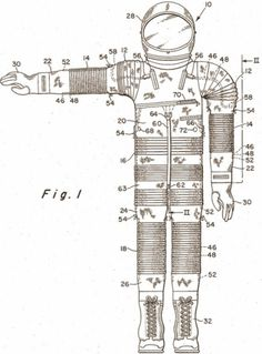 Patent Room | Design Ideas from US Patent Office Files #astronaut #space suit #patent #space flight