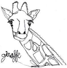CR. #line #white #tumblr #giraffe #black #animal #com #pencil #crollan