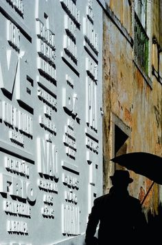 Eye blog » The Word on the street. OMG: R2's typographic gallery wall in Lisbon was a scriptural Knockout #signage #type #lisbon #knockout