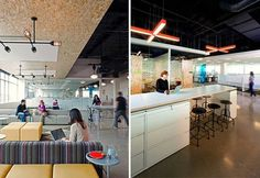 studio O+A: AOL offices #wood #lighting