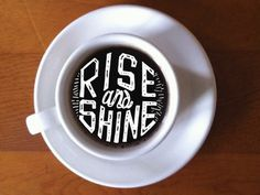 Coffee Talks #lettering #letters #shine #drawn #rise #coffee #type #hand #typography