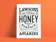 Lawsons honey poster