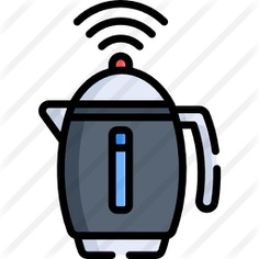 See more icon inspiration related to food and restaurant, furniture and household, kitchenware, tea pot, hot drink, electronics, coffee pot, kettle, wifi, signal and technology on Flaticon.