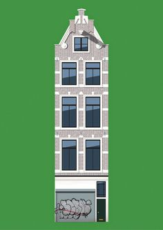 amsterdam #illustration #building #amsterdam