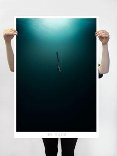 #apnea #sea #dark #calm #deep Poster realizado para lokoloko.es