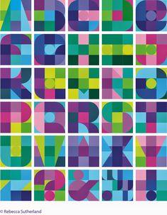 Rebecca Sutherland Nine square #typeface