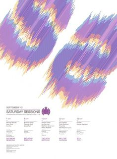 D&AD Ministry of Sound - Saturday Sessions #typography #poster