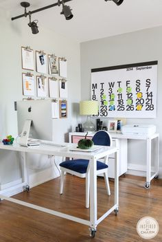 Fall Home Tour – Workspace #interior #office #space #home #desk #work