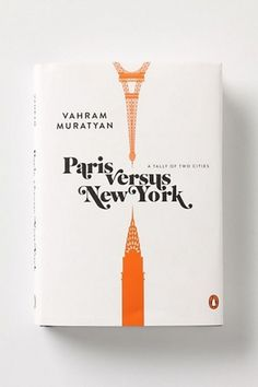 Paris versus New York book cover | Murray Mitchell #cover #book #typography