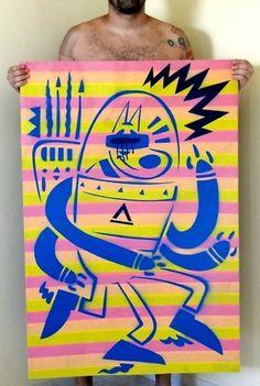 399088_375882915767115_100000362286011_1206244_1137339624_n.jpg (645×960) #birita #chiclete #pop #streetart #space #fabio #art #street