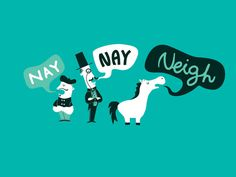 The Naysayers, by Agrimony #inspiration #creative #horse #design #graphic #illustration #teal