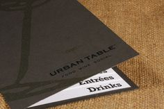 Urban Table: Menu #menu