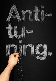 Antituning on the Behance Network #elantidoto #poster #typography