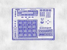 MPC 3000 #computer #machine #sketch #drum #mpc #akai #hatching #beats #production