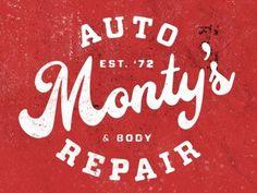 FFFFOUND! | Dribbble - Monty\\\\'s Auto & Body Repair by Jeremy Paul Beasley