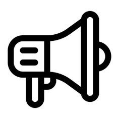 See more icon inspiration related to bullhorn, protest, shout, promotion, megaphone, loudspeaker, marketing, announcer and communications on Flaticon.