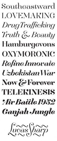 Lucas Benjamin Sharp 2010 #swash #serif #font #typeface
