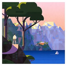 Villa Malaparte, Capri on Behance #illustration #geometric #graphic