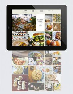 Food& on Behance #design #food #website #grid #photography #passport #layout #web