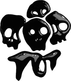 Axel Peemoeller Design #illustration #black #skulls #art