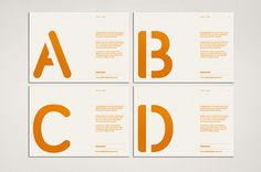 Process: Promotional Cards #typography