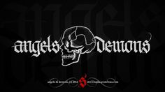 All sizes | Angels and Demons | Flickr - Photo Sharing! #calligraphy #album #movie #demons #cover #tattoo #angels #skull #stipple