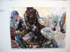 VICTORJUHASZ - Filling Big Shoes #afghanistan #soldier #illustration #watercolor #sketch