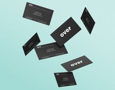 Over #business #design #graphic #black #over #identity #studio #barcelona #cards #green