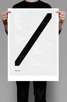 Love Cuts #white #design #graphic #minimalism #black #poster #typography
