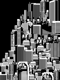 All sizes | Metropolis Cityscape | Flickr - Photo Sharing! #design #illustration #cityscape #city #digital #buildings
