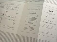 Ned_ #letterpress #invitation #typography