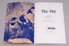 "FFFFOUND! | Oi Polloi ""Pica-Post"" Magazine 