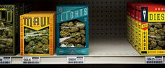 Marijuana packaging #packaging #marijuana #shelf #weed
