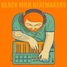 BlackMilkBeatmakers.jpg 530×530 pixels #illustration