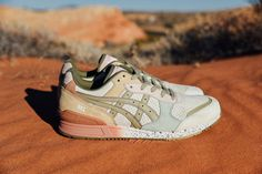 """""""On The Road"""" - ASICS #earth #pastels"""