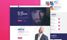 Mr. Resume Web Template