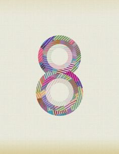 Typeverything.com - Typo­graphic exper­i­ment... - Typeverything #concentric #colour #number #eight
