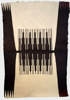 ALYSSA PHEOBUS MUMTAZ  Acrylic on handmade indio walnut paper