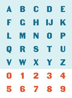 The Becker Gothics Egyptian #type #specimen #typography