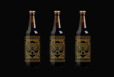 Goldhawk Ale by Don't Try Studio #graphic design #vector #print #bottle #caps