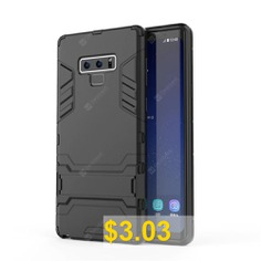 Case #for #Samsung #Galaxy #Note #9 #Shockproof #Solid #Hard #with #Stand #Back #Cover #- #BLACK