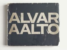 Merde! - Book cover (Alvar Aalto, Krämer/Girsberger, 1963.... #graphic